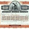American Bicycle Company, Jersey City, New Jersey, Aktie von 1902. Gegründet 1900 von einem der größten US-amerikanischen Fahrradherstellern, Albert Augustus Pope, zwecks Herstellung von Fahrrädern, 1902 reorganisiert zu American Cycle Company.
