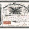 Brown Silver Mining Company of Colorado - Aktie von 1868, ausgestellt in Philadelphia. Gründung der Minengesellschaft im Jahr 1867 in Colorado mit einem Kapital von 500.000 $. Colorado war von 1861-1876 ein selbständiges Territorium. alle Wertpapiere aus der Zeit sind sehr selten.
