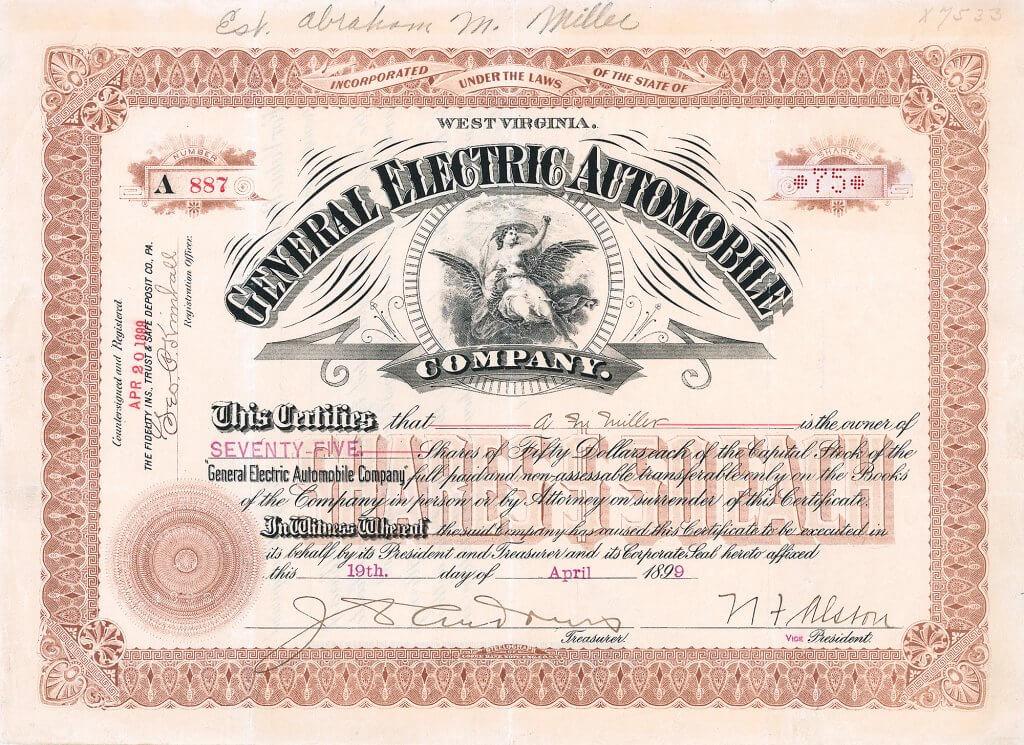 Der erste Präsident von General Electric, Charles Albert Coffin (1844-1926), war beteiligt an Waltham Manufacturing und setzte durch, dass dort in der zweiten Hälfte des Jahres 1898 ein Elektro-Prototyp entwickelt wurde. Weder Geschäftsführer Charles Herman Metz (1863-1937) noch die beauftragten Techniker George M. Tinker und John W. Piper waren davon überzeugt; Metz begann zu dieser Zeit mit Verbrennungsmotoren zu experimentieren und baute das wahrscheinlich erste benzingetriebene Motorrad in den USA.