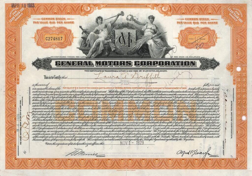 General Motors Corp. Die kurz nach 1900 gegründete General Motors ist eine reine Holding, die ihre Autos weiter unter den Markennamen der übernommenen Automobilwerke verkaufte. Unter dem Zeichen der General Motors Corp. (GMC - eine Gründung von William C. Durant) erscheinen nur Nutzfahrzeuge.