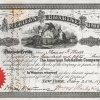American Submarine Company, historische Aktie von 1871. Das von der Gesellschaft gebaute