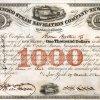 Orinoco Steam Navigation Company, historische Aktie von 1852. Kupferstich mit vier herrlichen Vignetten. Die Konzession der 1849 gegründeten Reederei beinhaltete das alleinige Recht auf 18 Jahre zum Betrieb der Dampfschifffahrt auf den Flüssen Orinoco und Apure.